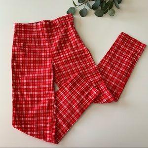 L & T Red Plaid Pants